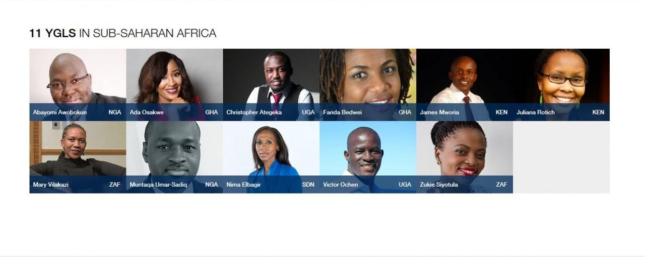 Five Fellows on WEF 2016 Young Global Leaders' list