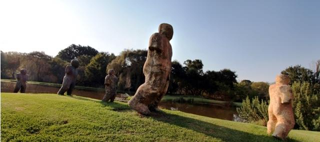 Walking statues at Nirox Park