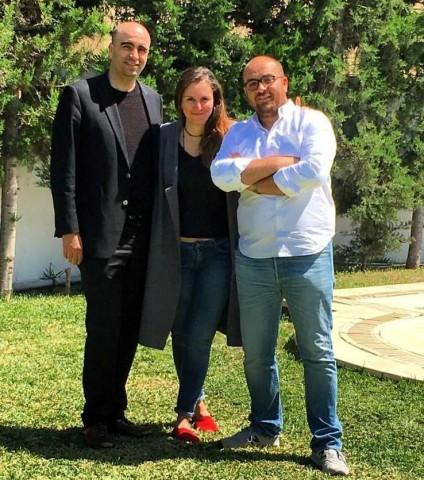 Co-founders L to R: Zied Mhirsi, Rym Baouendi and Houssem Aoudi