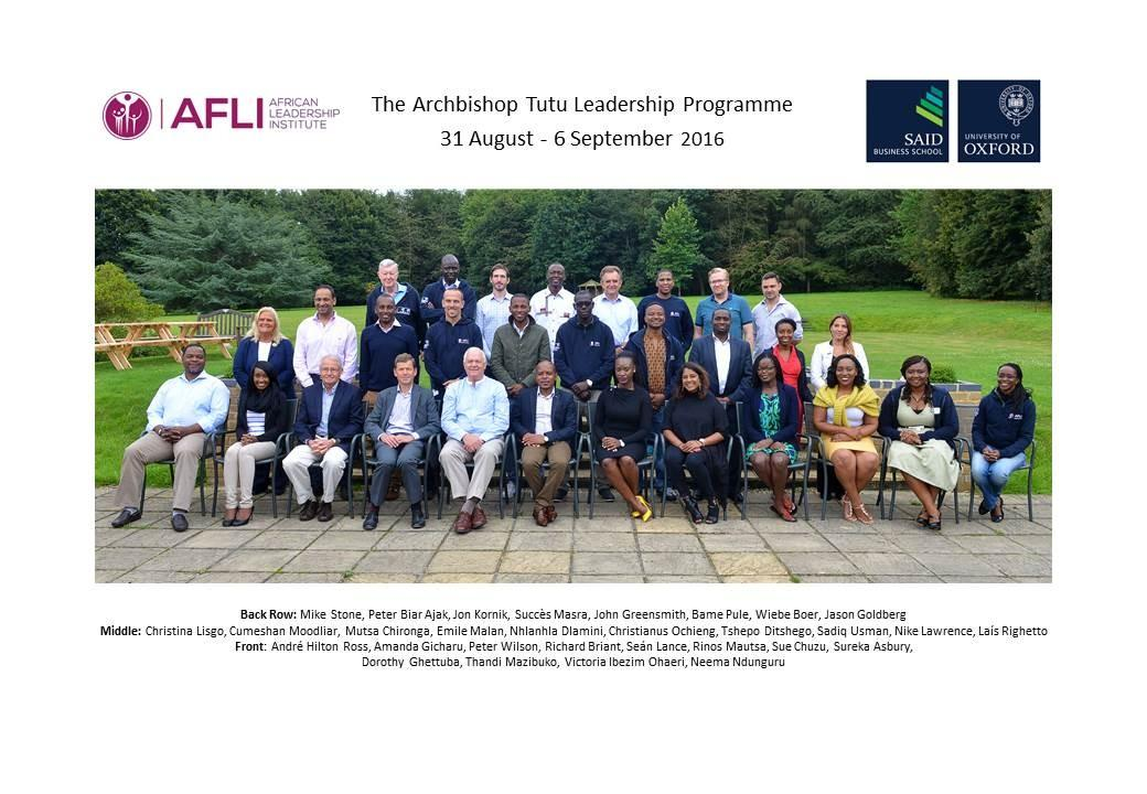 2016 Tutu Fellowship Programme ends with an amazing final workshop in Oxford