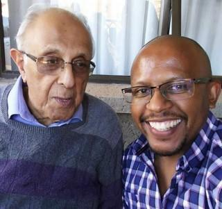 Ahmed Kathrada and Sello Hatang