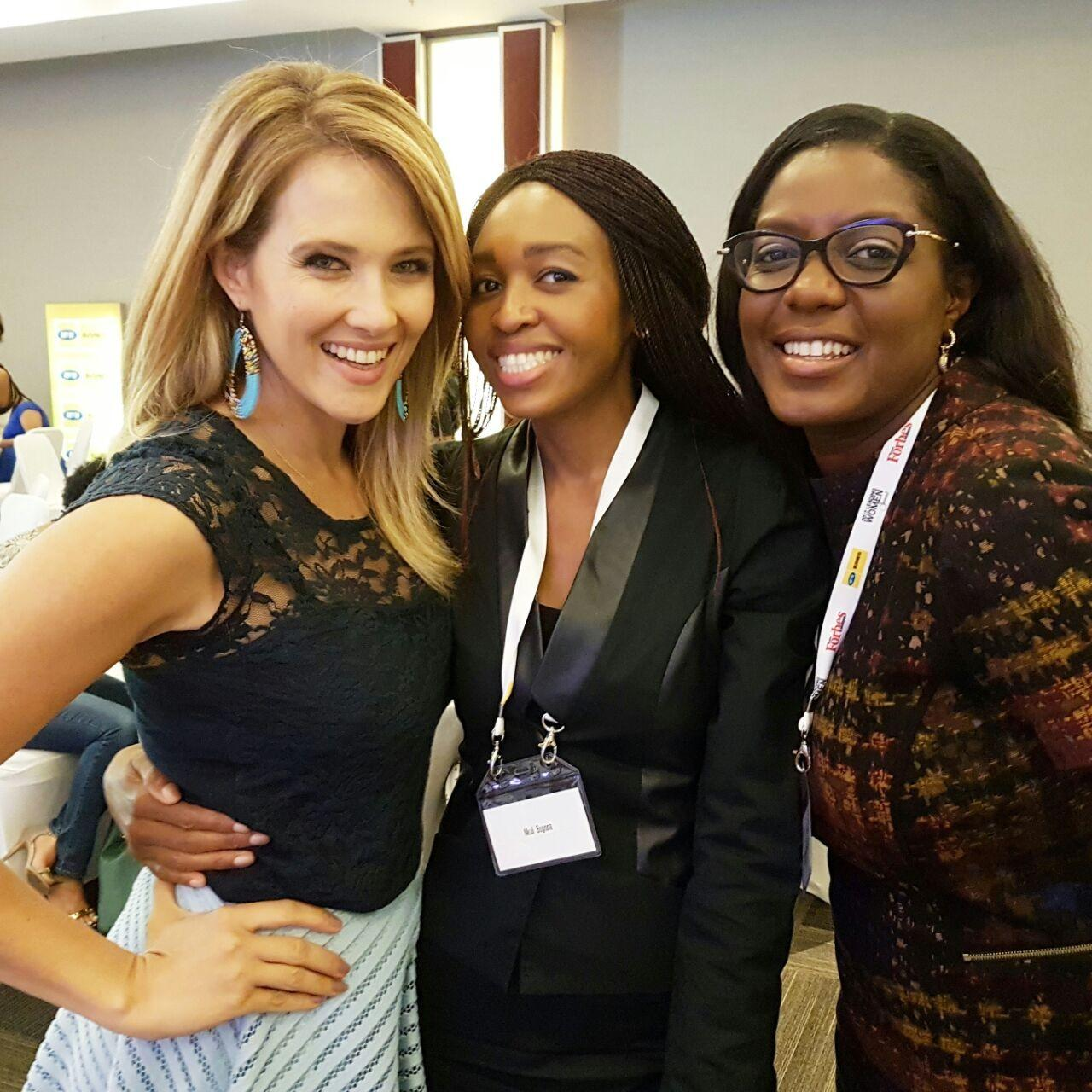 Catherine Constatinides, Nkuli Bogopa, and Monica Musonda At the Forbes Leading Women Summit on International Women's Day