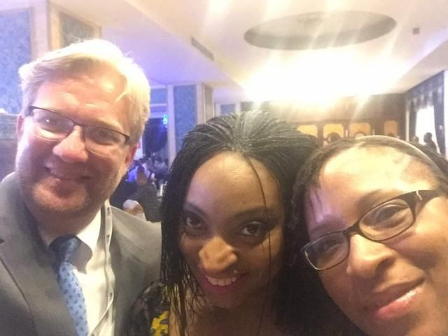 Dr Wiebe Boer Dr Jumoke Oduwole and Ije Ikoku at the African Finance Corporation Live event in Abuja today