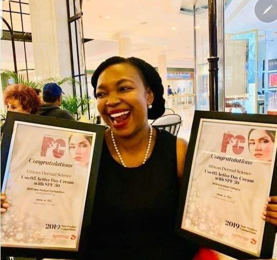 Fellow wins top awards for advancing African Skincare Technology